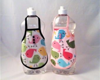 Dish Soap Bottle Apron - Laminated Cotton Fabric