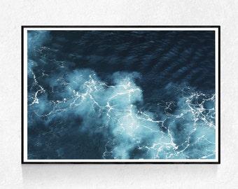 Ocean Print, Coastal Wall Art, Coastal Print, Ocean Wall Art, Seascape, Coastal Decor, Nautical, Printable Art