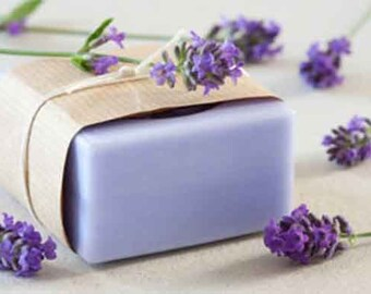 Homemade Vegan Lavender Soap