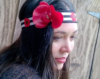 Red Orchid 20s Headband