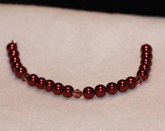 Swarvoski Glass Pearl Bracelet with Swarvoski crystals
