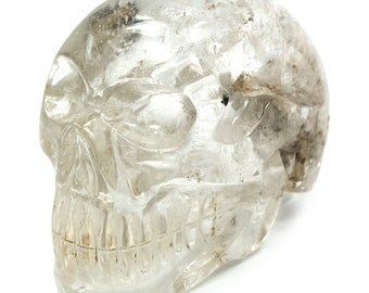 Clear Quartz Crystal Skull with Inclusions