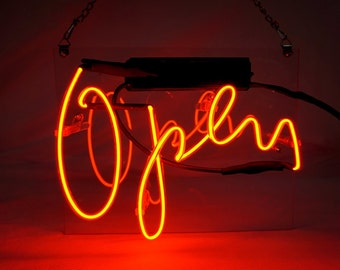 "New Business Window 'Open' Art Light Banner Neon Sign 10""x8"""
