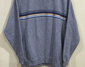 Rare!!! Vintage Hang Ten Sweatshirt Pullover Jumper Sweater Hang Ten Stripes Surf Surfboards Hawaii Surfing