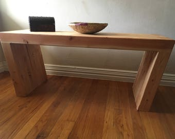 Handmade, solid wood coffee table or bench.
