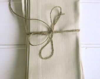 Pure linen napkins set 4, beige color, pure linen napkin, serviette, linen napkin