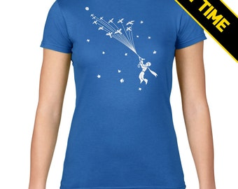 Glow in the Dark! | Le Petit Prince | The Little Prince | Flock of Birds | Antoine de Saint-Exupéry | Poetic | Cosmic | Womens T Shirt