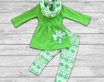 St Patrick's Day Outfit with Infinity Scarf