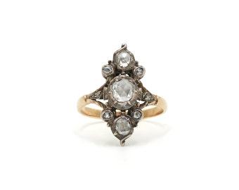 Victorian Rose Cut Diamond Ring (RESERVED 1 of 3)