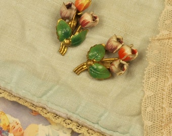 VIntage earrings / dress clips