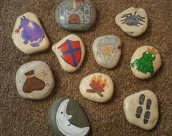 Fairy tale story stones, boy/girl