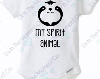 sloth spirit animal onesie