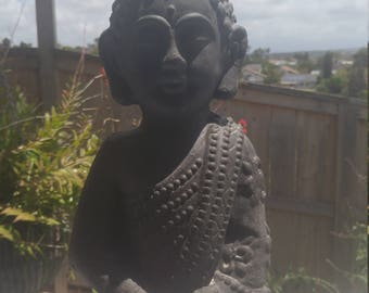 1' Black Resin Buddha, perfect for any decor makes a perfect gift
