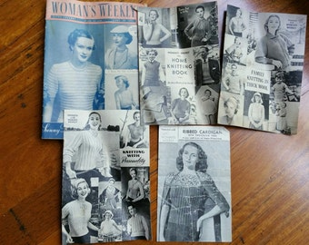Vintage 1950s Knitting Patterns Woman's Weekly