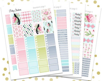 Blackbird Weekly Kit for Erin Condren   Printable   Includes Blackout Files for Easy Cutlines