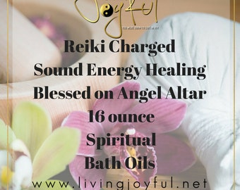 16 ounces Of Spiritual Bath Oil  Masterfully Crafted By Priestess Reiki Charged, Sound Healing With Singing Bowls & Blessed On My Altar