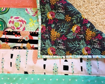Spring baby quilt in bloom