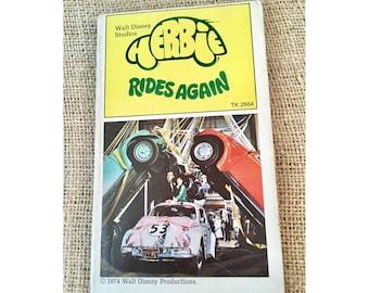 Walt Disney Herbie Rides Again 1974 Book from movie, Herbie the Love Bug, Vintage Disney Book Softcover, Helen Hayes, Ken Berry, 70's Disney
