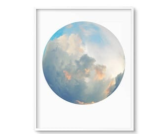 Wall Art, Sunset Art, Sky Art, Cloud Print, Blue Sky, Downloadable, Printable Art, Cloud Art, Art Prints, Art, Cloud Nursery, Top Sellers
