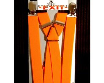 "1"" Neon Orange Suspenders"