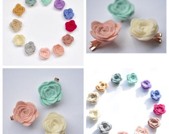 Rosettes | felt flowers | floral felt flowers