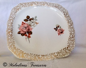 Lord Nelson Vintage Plate with Gold Filigree Rim Border LNE3406