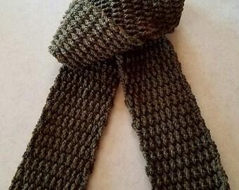 Crocheted Wool Scarf