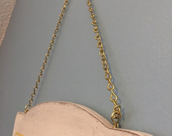 Metal hanging chain and hooks -ADD ON HARDWARE