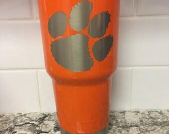Clemson Tigers Engraved SIC or RTIC 20 oz or 30 oz Rambler Tumbler