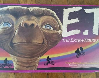 E.T. 1982 Board Game Park Brothers Alien Movie Outer Space Vintage Spielberg Sci Fi Science Fiction Outer Space Toy Kids