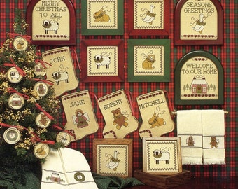 1/2 Price Christmas Sampling by Margaret & Margaret Counted Cross Stitch Pattern/Chart