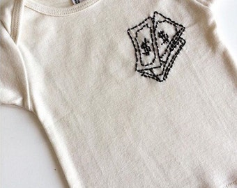 Money Stalks Hand Embroidered Onesie.