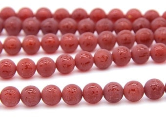 Om Beads Om Matte Orange Carnelian Beads Mandra Beads 6MM 8MM 10MM Red Om Beads Om Mani Padme Hum Beads Mala Beads Buddhist Religous Jewelry
