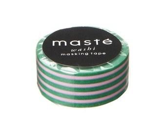 Decorative gift tape, Green Washi tape, Masking tape, Japanese scrapbook, Maste Japan, Gift wrapping, Paper tape