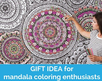 Coloring wallpaper Wall Decor to color Large floral