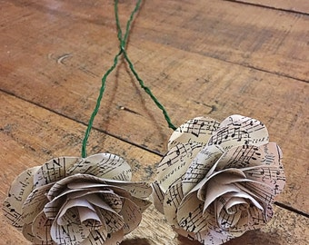 Handmade Customizable Paper Flower Bouquet Inserts