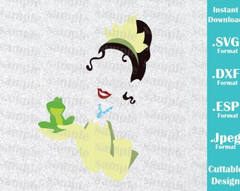 INSTANT DOWNLOAD SVG Disney Inspired Princess Tiana and the Frog  for Cutting Machines Svg, Esp, Dxf and Jpeg Format Cricut Silhouette