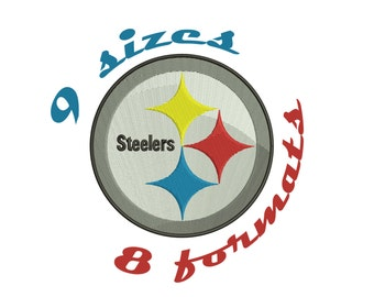9 Sizes Pittsburgh Steelers Inspired Machine Embroidery Designs in 8 formats and 9 sizes
