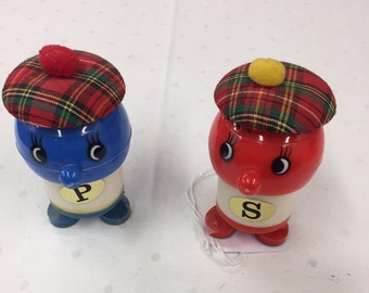 Vintage Scottish Salt and Pepper Shakers