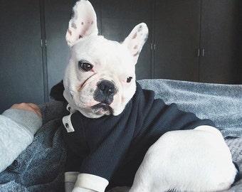 dog  black fur sweater, dog long sleeve black sweater,  cat sweater. dog faux fur sweater