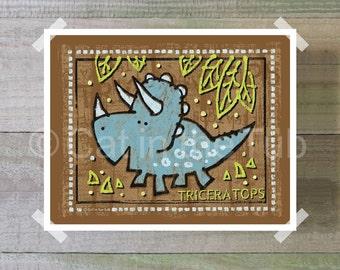 Triceratops Digital Print, Dinosaur Digital Print, Dinosaur Nursery Art, Downloadable Art, Dino Print, Dinosaur Print, INSTANT DOWNLOAD ART