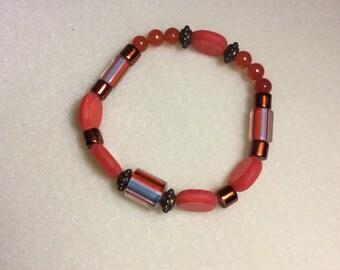 Orange Bangle Bracelet