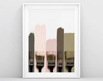 Brush Strokes Print, Brush Strokes Art, Abstract Brush Print, Colorful Wall Art, Colorful Print, Brush Painting, Paintbrush Art, Pastel Art