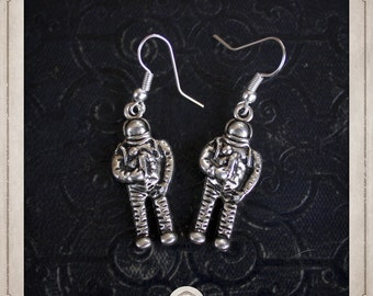 Astronaut earrings silver BOA035