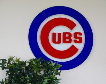 Wall art, Baseball wall art, Baseball wall hanging, Metal baseball wall art, Cubs, Chicago,
