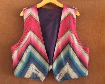 Vintage Native American print vest