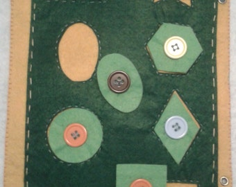 Activity forms geometrical, book educational, book interactive, book silent, book quiet, book of felt, Quiet Book, Busy Book