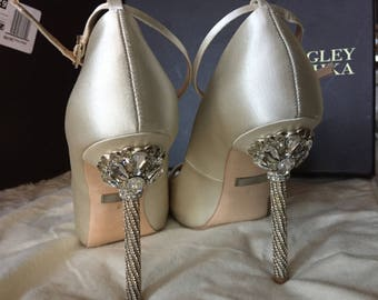 Badgley Mischka Diego Embellished Wedding Shoe