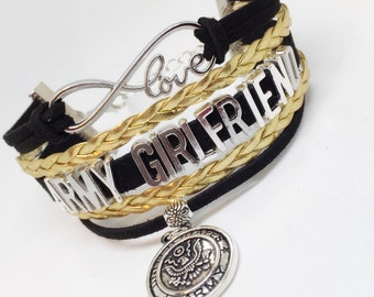 Army Girlfriend, Army Girlfriend Bracelet, Army Bracelet, Army Deployment, Army Gift, Army Valentine, Army Welcome Home