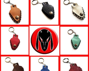 Keychain/Portaplettro genuine leather, Made in Italy, hand stitching, available in different colors